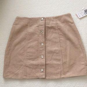 Forever 21 Beige Corduroy Mini Skirt