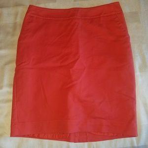 Salmon color dress skirt