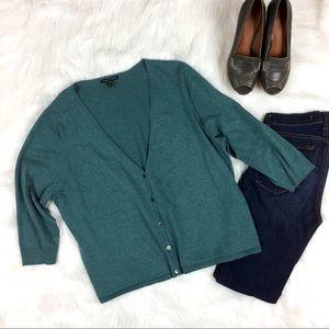 Eileen Fisher Organic Cotton & Cashmere Cardigan