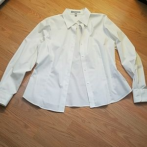 Foxcroft womens fitted stretch dress shirt  unworn