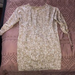 Michael Kors Cold Shoulder Bell Sleeve Dress