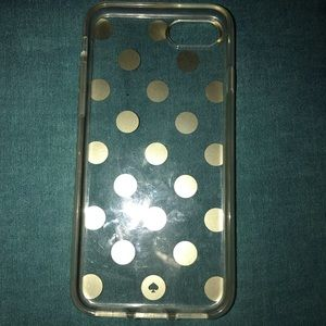 Kate Spade iPhone 6/6s Case! Gold dotted.