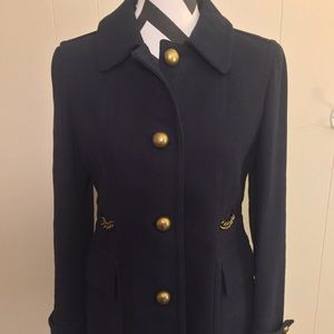 Loft Navy Blue Military Coat