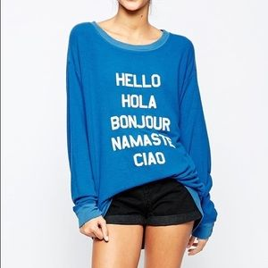 Wildfox Say Hello Sweatshirt XS