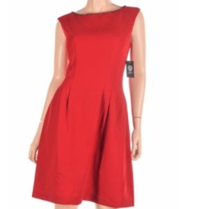 Red holiday party dress, perfect cocktail dress