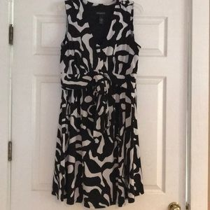 Lane Bryant black/white dress, size 14/16