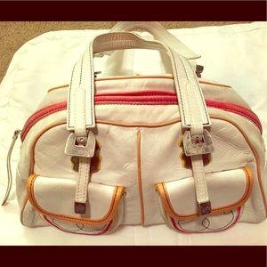 Rare Francesco Biasia Cream Handbag