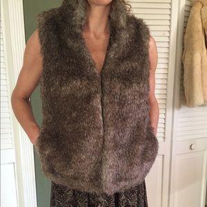 Jackets & Blazers - Michael Kors Faux Fur Vest