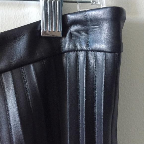 Trouve Skirts - Pleated leather midi skirt
