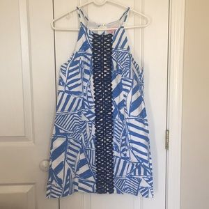 Pearl shift Dress bay blue yacht sea