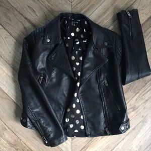 Black motorcycle jacket!