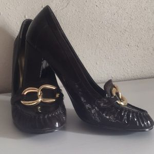 Chinese Laundry loader style patent leather pumps