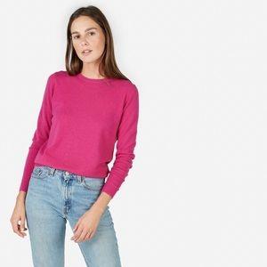 Everlane Cashmere Crewneck Sweater – Hot Berry