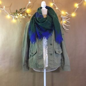 J. Crew Chino Army green military jacket size S