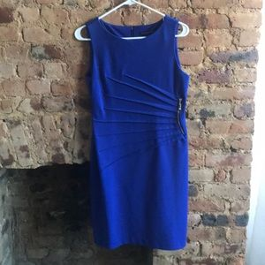 Royal Blue Ivanka Trump dress with side detail