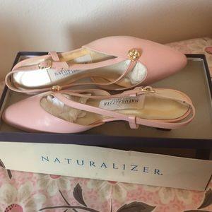 Naturalizer slingback kitten heels