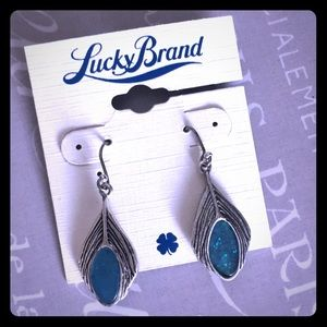 🍀 Lucky Brand Stone Drop Earrings - NWT!!