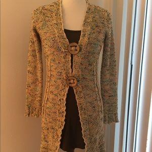 BCBG MAXAZRIA Chunky Long Cardigan Sweater Multi
