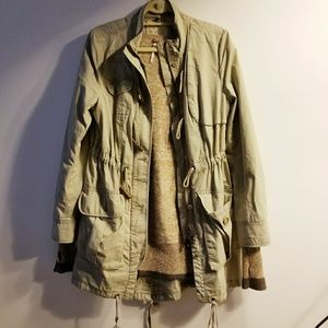 Free People Utility Jacket With Removable Sweater