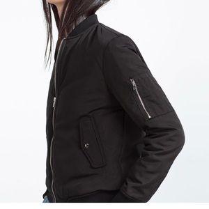 Zara nylon bomber jacket