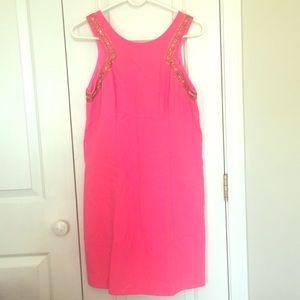Pink beaded Shift dress