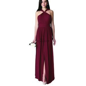 •BILL LEVKOFF• Wine Formal Dress