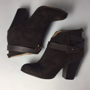 Forever 21 Dark Brown Ankle Boots