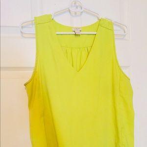 J Crew sleeveless yellow top