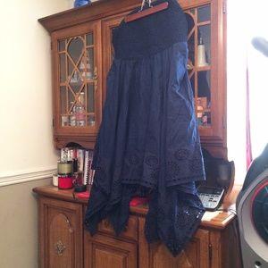 LANE BRYANT HANDKERCHIEF DRESS 26/28 3X 4X BANDED