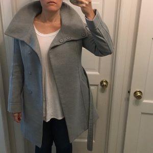 Oversized collar winter coat