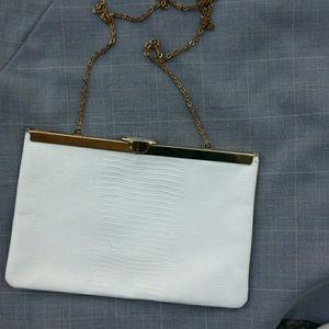 Vintage leather clutch/evening bag