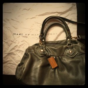 Marc Jacob leather handbag- grey