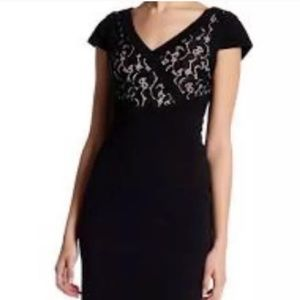 Adrianna Papell lace Sheath Cocktail dress