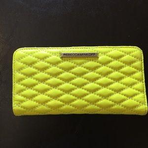 Rebecca Minkoff Sophie snap neon wallet