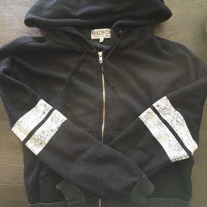 Wildfox cozy zip up EUC 力