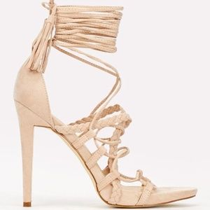 BNWT Pink Strappy Lace-up Heels
