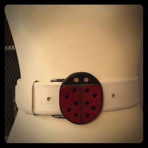 Vintage Rare ladybug Vera Neumann belt