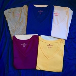 5 Woman Within New Cotten V-neck T-shirts LARGE