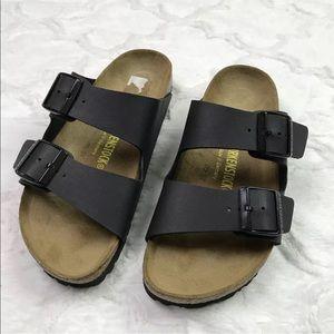 Birkenstock Black Leather Arizona sandal women's 7