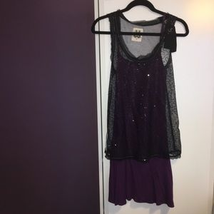 Miss Me two piece dress with sequins