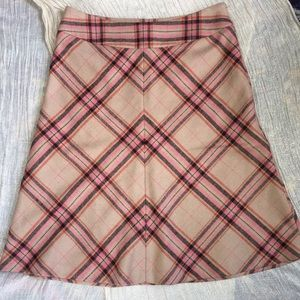 Vintage-look Liz Claiborne plaid wool skirt sz 8