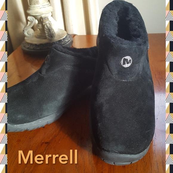 9921e873 Merrell Clogs Mules Encore Ice Blk Suede Sz 7