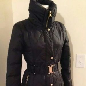 """Black belted puff coat by """" Express"""""""