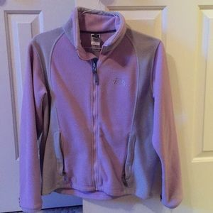 Lavender and gray North Face jacket
