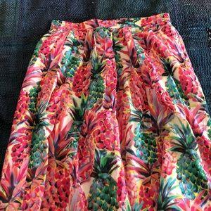 NWT J. Crew Pineapple Skirt Size Large