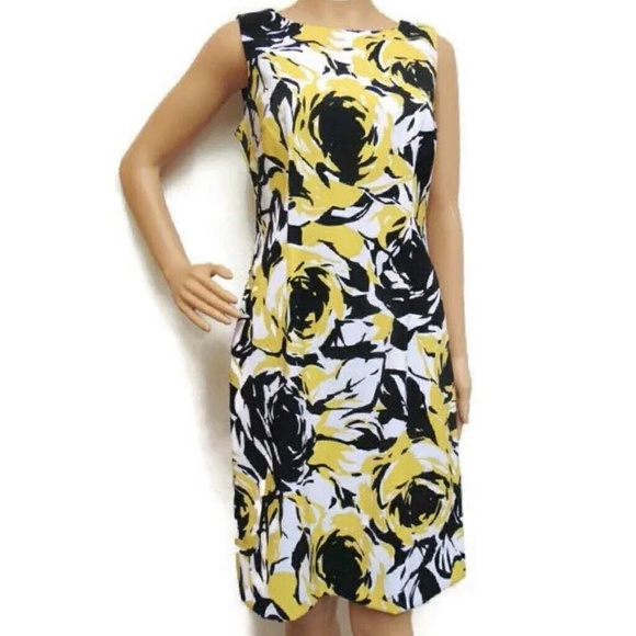 Ronni Nicole Dresses Ronnie Nicole Floral Dress Yellow Black White