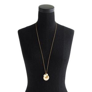 J. Crew Pearl disc pendant necklace