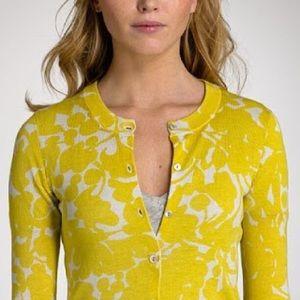 JCrew cotton gladiolus print sweater, size S