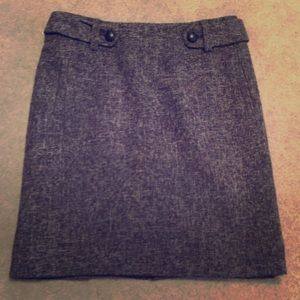 Dark brown knit skirt