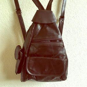Retro backpack ➡️ crossbody bag patchwork design